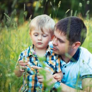Father-Boy-Grass