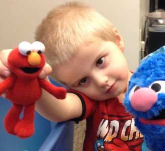 Autism Research UW READI Lab Child with Elmo